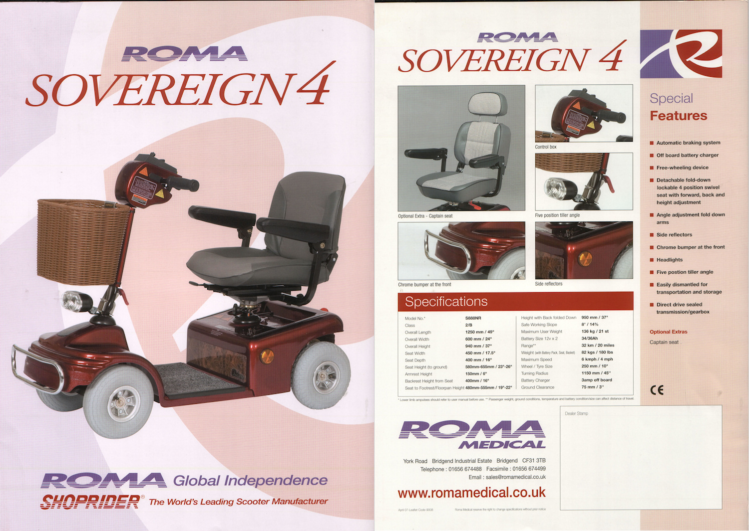 Sovereign 4 Mid-range Mobility Scooter